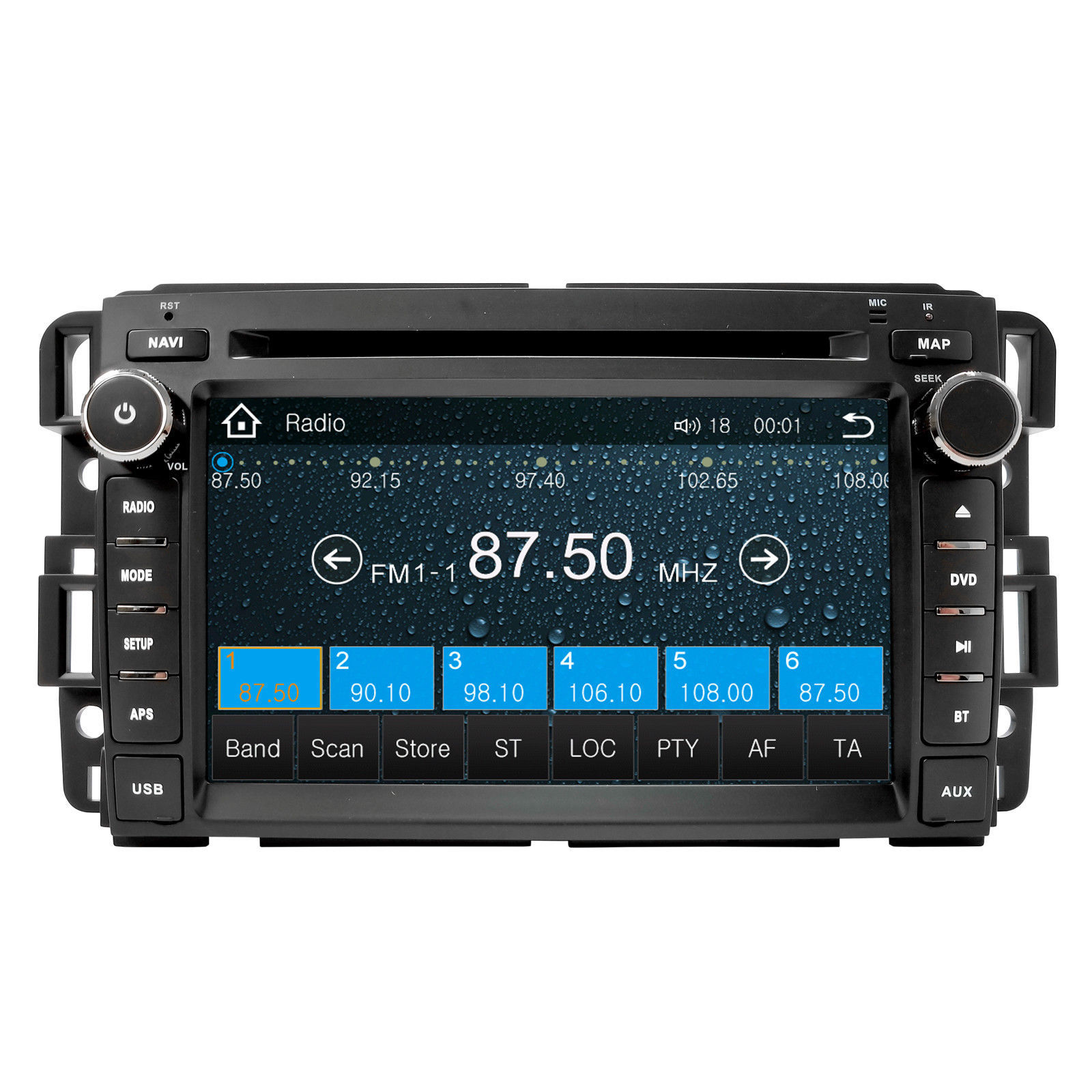 DVD Navigation Touchscreen Multimedia Radio for 2008 GMC Denali image 3