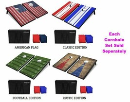 Cornhole Set - Includes 8 Bean Bags, Travel Case and Game Rules Good Wea... - $116.99