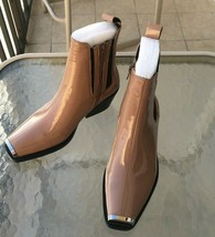 NEW IN BOX Women's Free People Jeffrey Campbell Poker Boot Sz 5M Natural Patent - $99.00