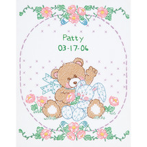 "Jack Dempsey Stamped White Sampler 11""X14""-Bear & Bunny - $11.36"