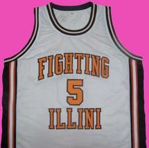 Deron Williams Fighting Illini White College Jersey Any Size Free Wwjd Bracelet - $29.99