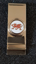 WELSH DRAGON in silver money clip/holder in gift box