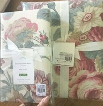 Pottery Barn Elia Duvet Cover Set Pink Rose Queen 2 Euro Shams Floral 3pc  - $199.00