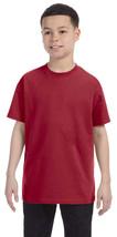 Jerzees Youth Heavyweight T-Shirt - 29B - Crimson - $2.91