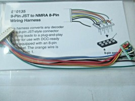 Soundtraxx 810135 9-Pin JST to NMRA 8-Pin Wiring Harness image 1