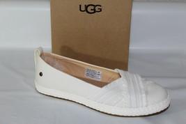 "Ugg ""Ynez"" Women's Canvas Slip On Flats Shoes, White, Size 5, 1092238 - $49.46"