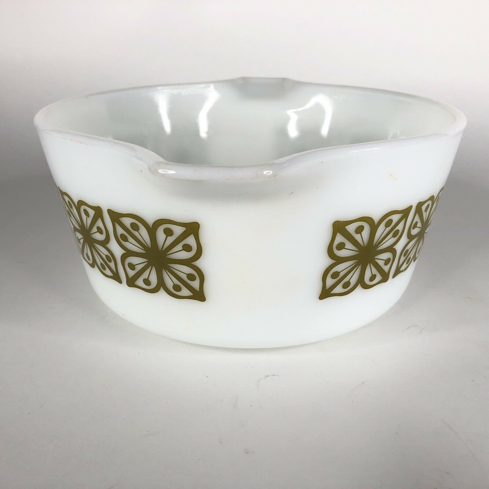 Pyrex Verde Square Green Flower Casserole Dish 474 B Covered Baking 1.5 Quart QT image 4