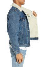 Levi's Strauss Men's Cotton Sherpa Lined Denim Jean Trucker Jacket 163650040 image 3