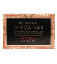 18.21 Man Made Sweet Tobacco Detox Deep Cleansing Moisturizing Bar Soap (7oz)