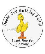 """12 Personalized Big Bird Birthday Party Stickers Favors Labels tags 2.5""""... - $8.99"""