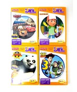 Fisher Price iXL Lot 4 Games Kung Fu Panda 2 3D, Cars, Handy Manny & Toy... - $18.69