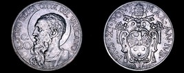 1933-1934 Vatican City 20 Centesimi World Coin - Catholic Church Italy- ... - $44.99