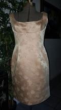 Tahari Women's gold Yellow floral oriental sneath lined Sleeveless Dress... - $16.80
