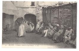 Algeria Conteur Arabe au Cafe Maure c 1910 Algiers LL Leon Levy Postcard - $6.69