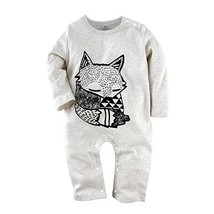 BIG ELEPHANT Baby Boys' 1 Piece Long Sleeve Romper Pajama Clothes H12-95... - $19.44