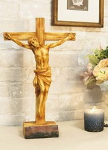 "Ebros Large 15""H Jesus Christ with Crown of Thorns On The Cross Desktop ... - $36.99"