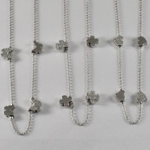 925 STERLING SILVER NECKLACE JACK&CO WITH FOUR-LEAF CLOVER HEART 0,5 BUTTERFLY image 1