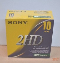 "SONY MFD 2HD 3.5"" Micro Floppy Disks New & 9 Memorex 3.5 Boxed - $13.10"