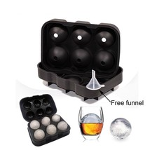 6 Cell Ice Ball Maker Silicone Round Sphere Tray Mold Cube Whiskey Cocktail  - $11.40