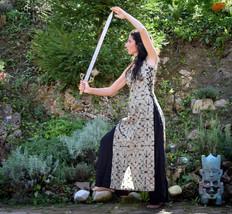Warrior tunic Dress, Shamanic Shipibo tunic dress, goddess medieval dress - $53.00