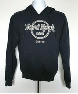 Mens Hard Rock Cafe Destin Hoodie Sweatshirt small Raised Logo blue open... - $21.49