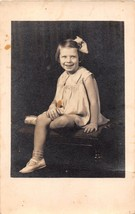 ELIZABETH CITY NC FRISBY'S STUDIO~YOUNG GIRL POSES REAL PHOTO POSTCARD 1... - $6.27