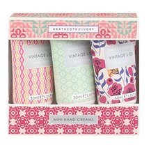 Vintage & Co 30ml Fabric and Flowers Mini Hand Creams (Pack of 3) - $17.81