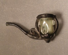 Cracker Jack Toy Metal Pipe with Celluloid Insert - $24.00