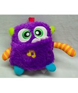 "Fisher-Price PURPLE GIGGLES AND GROWLS MONSTER W/ SOUND 6"" Plush STUFFED... - $19.80"