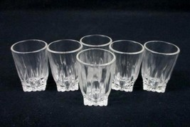 Set of 6 Fire King Clear Shot Glass Party Bar Supply Textured Guest - €27,28 EUR