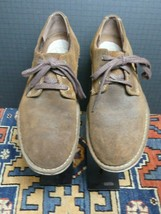 Men's Clarks Waxed Brown Suede Casual Cool Oxford Sz. 11 MINTY! - $35.93
