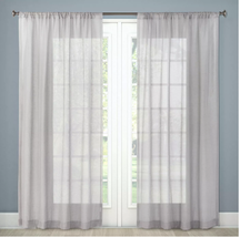 NEW Light Gray Sheer Linen Curtain Panel 84x54 - Threshold - FREE SHIPPING - $11.87