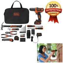 12V MAX Lithium Ion Drill Driver Cordless Tool Kit 64 Piece Project Acce... - $103.99