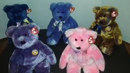 MWMTs Ty Beanie Buddies CLUBBY COMPLETE SET I-V Official Club Bears RARE... - $80.00