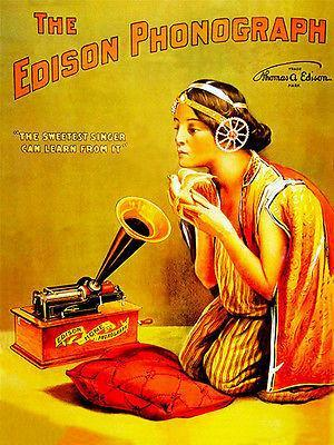 Primary image for 1888 - The Edison Phonograph - Promotional Advertising Poster