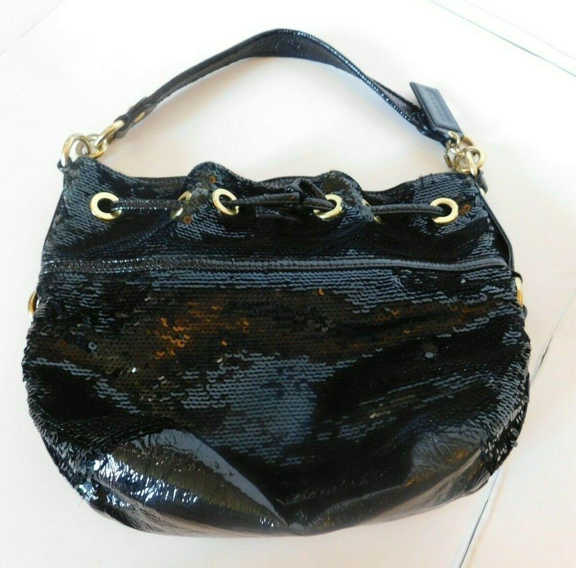 Coach Poppy Black Sequins Drawstring  Bag 17906 image 5
