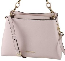 Michael Kors Portia Ew Satchel Tote Saffiano Leather Large Soft Pink - $158.95