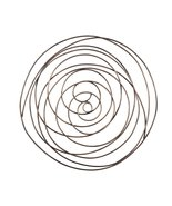 Grand Spiral Abstract Wall Decor-Gold - $49.99