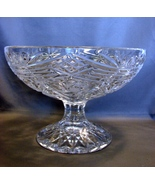 Brilliant Crystal 6 Inch Tall Footed Bowl, American - $112.00