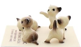 Hagen-Renaker Miniature Cat Figurine Tiny Siamese Kittens Set Seal Point image 2