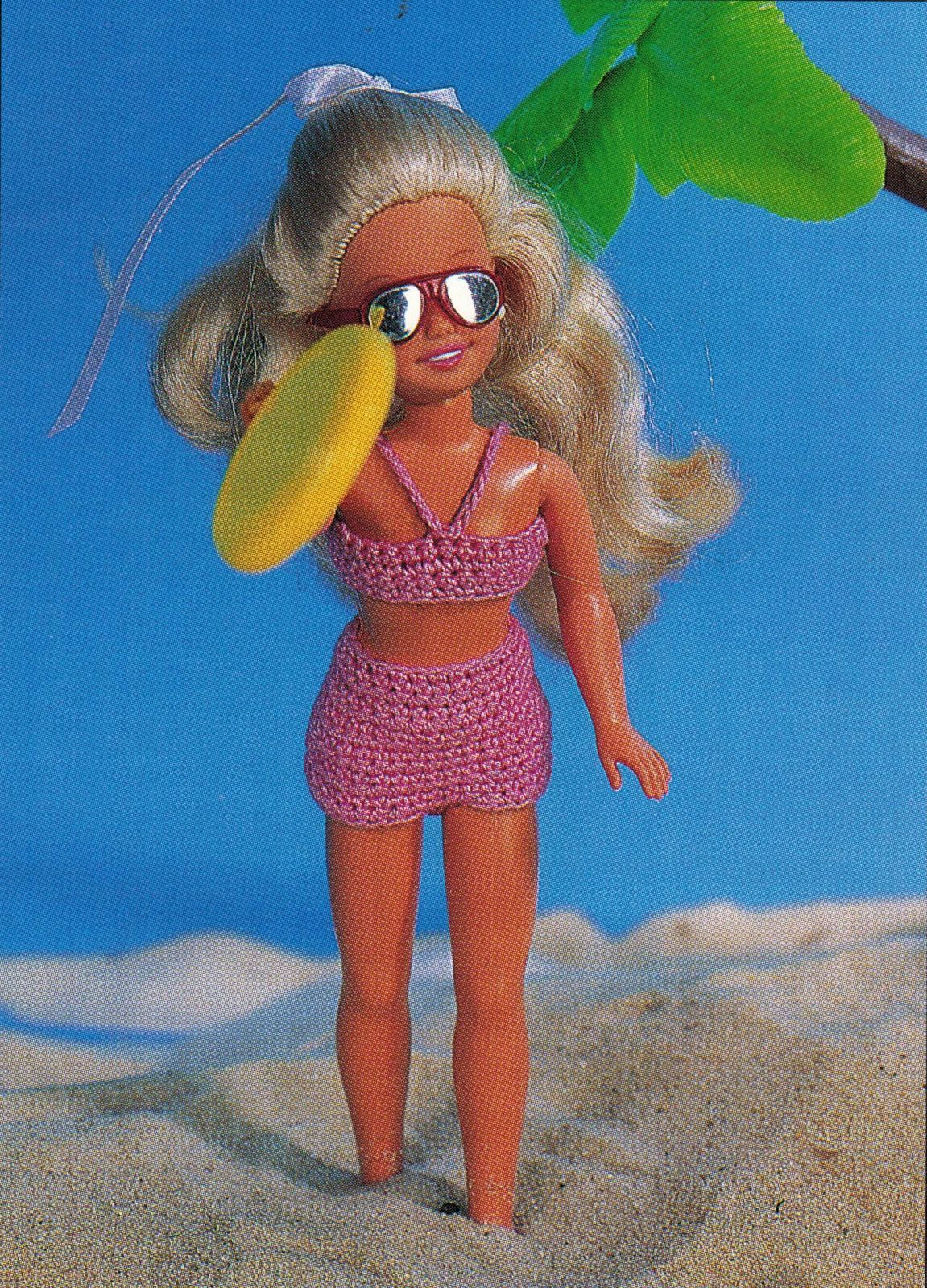 "5X Barbie 11-1/2"" Doll Beach Aerobics Exercise Time Andy The Dog Crochet Pattern image 7"