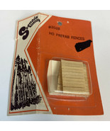 Sequoia 2028 HO Scale Prefab Wooden Fences Unainted Vintage NEW NOS RARE - $11.11