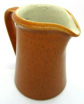 vtg Imperial Stonewear creamer Tangerine P9261 W. Dalton - $11.30