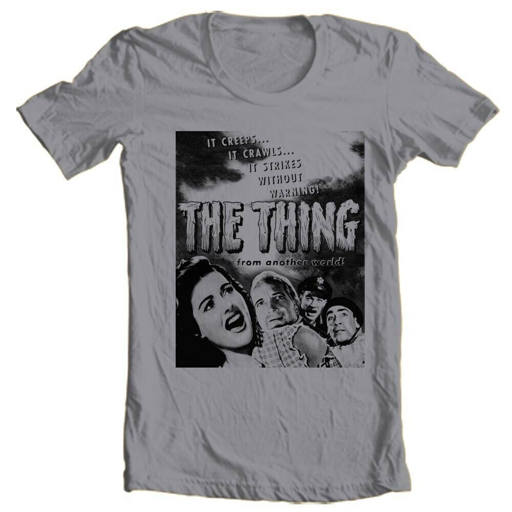 The Thing From Another World T Shirt 1951 vintage sci fi horror movie cotton tee