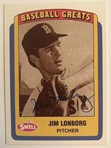 Jim Lonborg Signed Autographed 1990 Swell Greats Baseball Card - Boston ... - $5.93