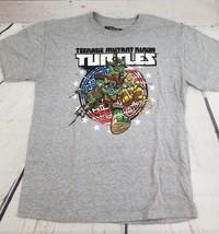 Nickelodeon  Ninja Turtles Gray Short Sleeve Graphic Tee Shirt Large L - $4.49