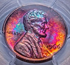 1966 Lincoln Memorial CentPCGS MS 64 RB Coin has a beautiful strike with... - $132.30