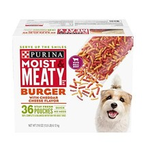 Purina Moist & Meaty Dry Dog Food, Burger with Cheddar Cheese Flavor - 3... - $28.57