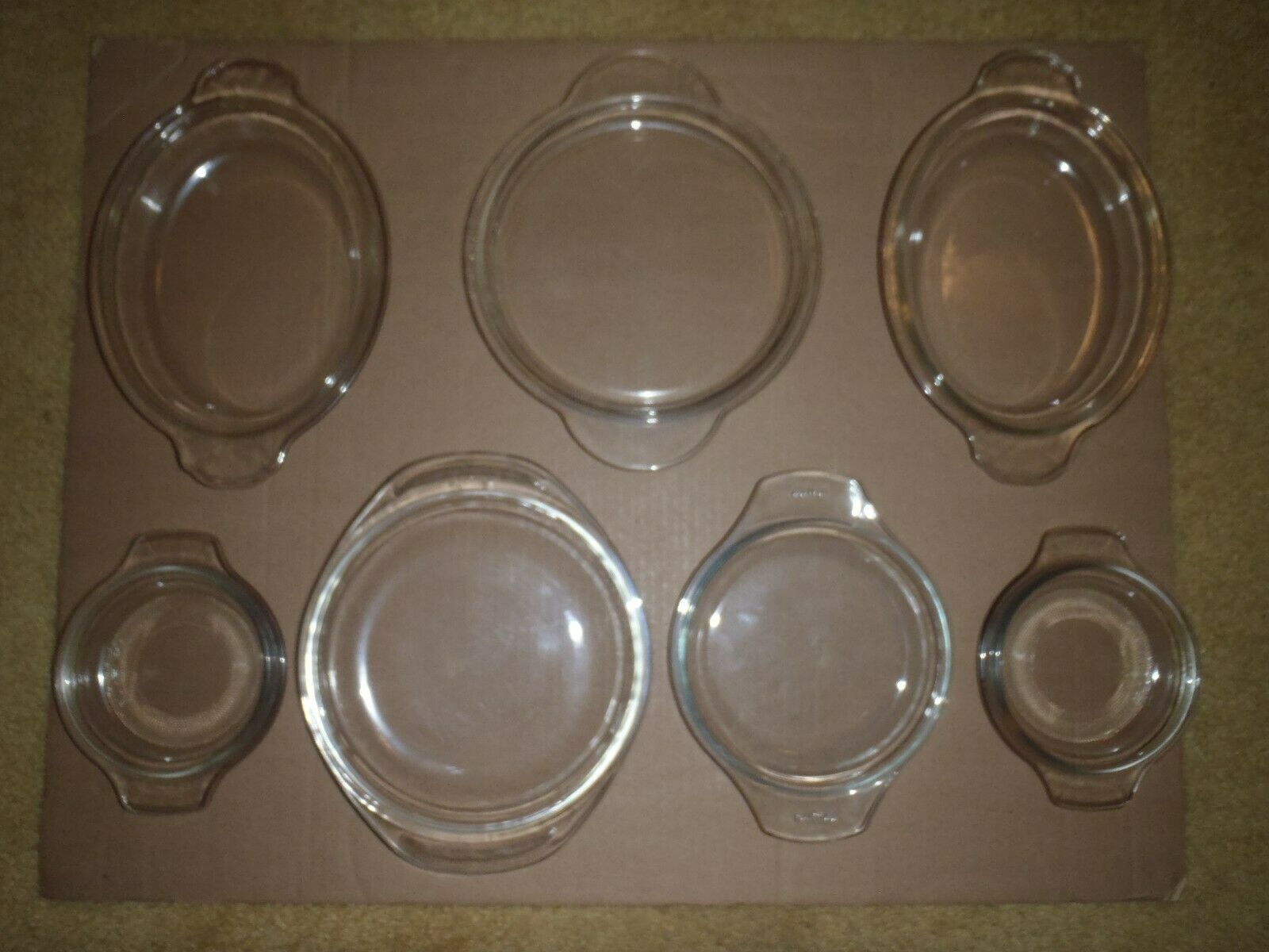 Vintage Pyrex Lot of Misc Mixed Clear Glass Tab Handle Covers Lids