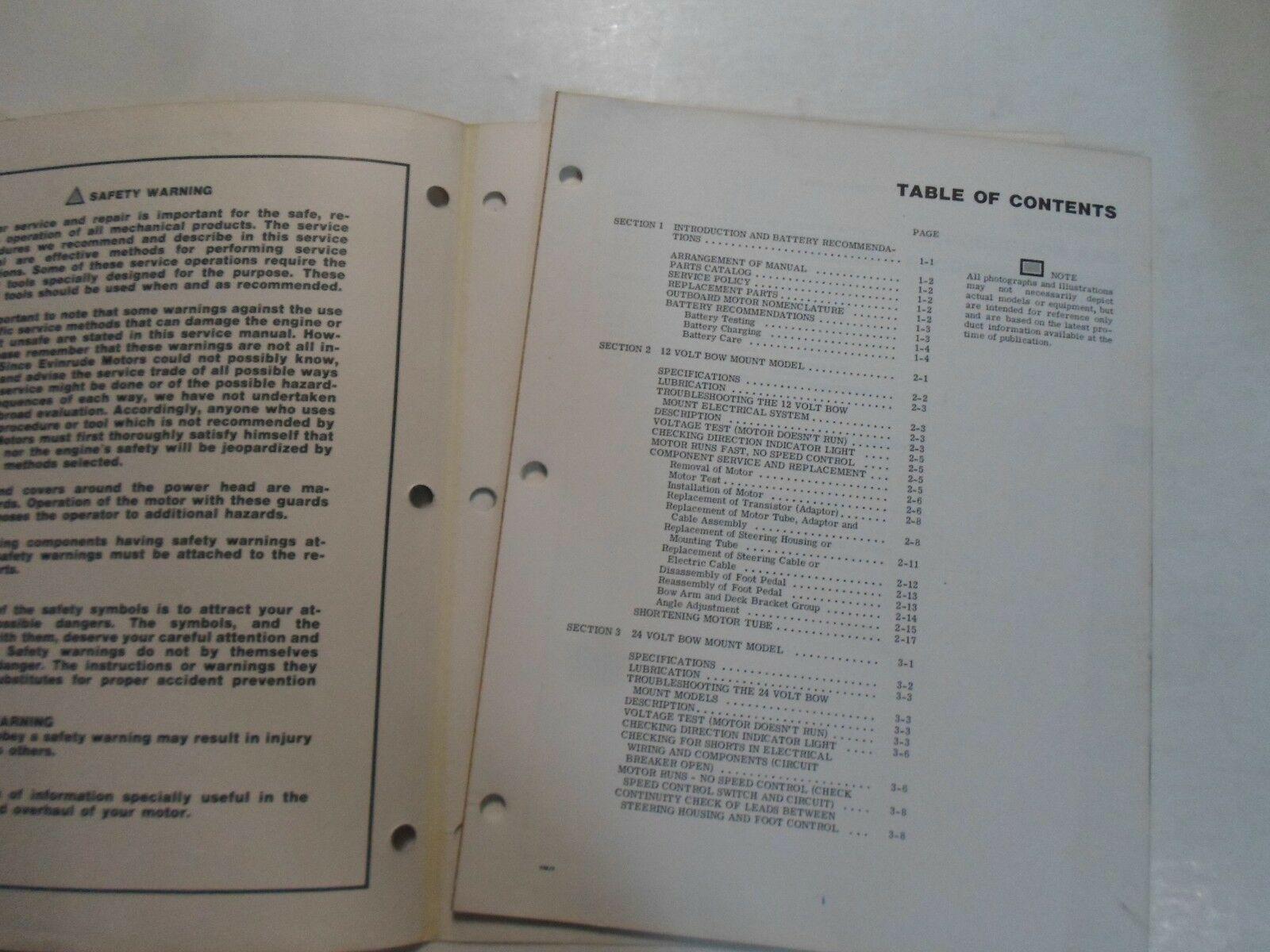 1977 Evinrude Service Shop Repair Manual Electric EB 52 54 82 84 OEM Boat WORN image 3